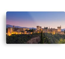 The Alhambra at Twilight Metal Print