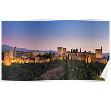 The Alhambra at Twilight Poster