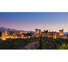 The Alhambra at Twilight Photographic Print