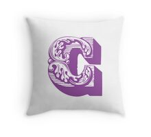 Alphabet - C Throw Pillow
