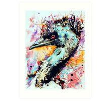 expressive emu Art Print