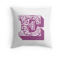 Alphabet Pillow - E Throw Pillow