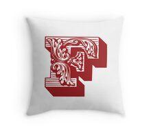 Alphabet Pillow - F Throw Pillow