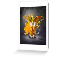 Beer Dragon Greeting Card