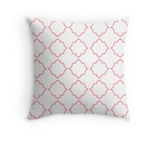 Moroccan Coral Throw Pillow
