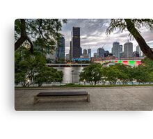 Brisbane from QLD Museum Forecourt Canvas Print