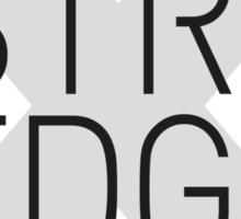 STRAIGHT EDGE Sticker