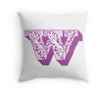 Alphabet Pillow - W Throw Pillow