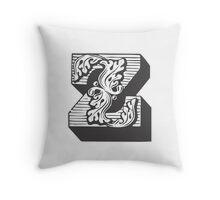 Alphabet Pillow - Z Throw Pillow