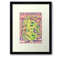 Whimfy Ribbon Framed Print