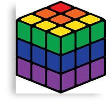 Rainbow Rubix Cube - Style 1 Canvas Print