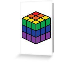 Rainbow Rubix Cube - Style 1 Greeting Card