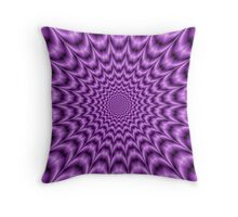 Explosive Web in Purple Throw Pillow