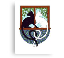 Two Cat Window Canvas Print