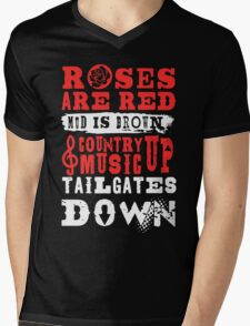 Country Music Tees Mens V-Neck T-Shirt