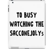 TOO BUSY SACCONEJOLYS iPad Case/Skin
