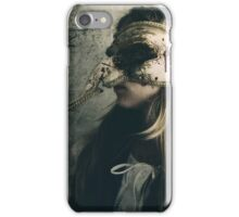 Gothic Girl Wearing Mask  iPhone Case/Skin