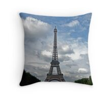 The Eiffel Tower in September Throw Pillow
