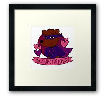 super bitch to the rescue! Framed Print