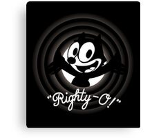 Righty-O Canvas Print