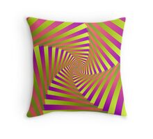 Psychedelic Five Arm Spiral Throw Pillow