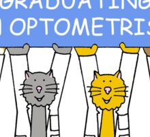 Congratulations on graduating as an optometrist. Sticker