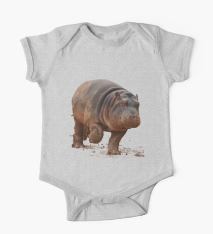 Baby Hippo on the Run: Tee One Piece - Short Sleeve
