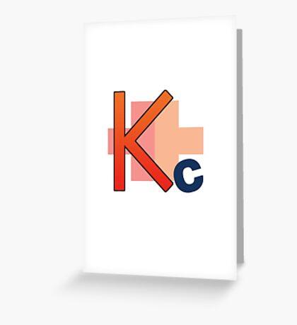 Kakucorp logo of the mighty Kakujo Greeting Card