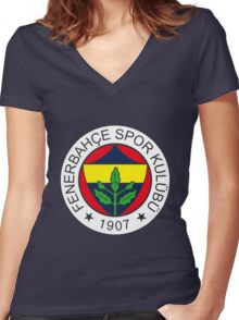 fenerbahce logo Women's Fitted V-Neck T-Shirt