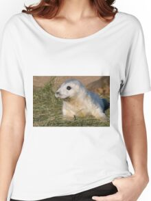 Grey Seal Pup - (Halichoerus grypus) Women's Relaxed Fit T-Shirt