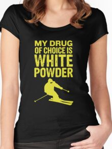 Skiing - My Drug of choice  Women's Fitted Scoop T-Shirt