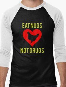 Eat Nugs Not Drugs Men's Baseball ¾ T-Shirt