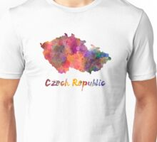Czech Republic in watercolor Unisex T-Shirt