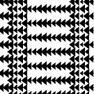 Geometric Black and White Modern Arrows by SaMack