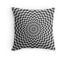Circular Weave in Monochrome Throw Pillow