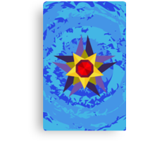 Starmie Vector Artwork Canvas Print