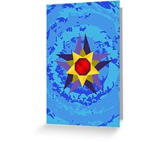 Starmie Vector Artwork Greeting Card