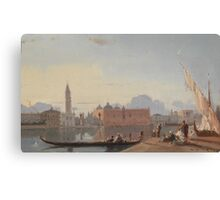 Henri Duvieux - (Paris ) View of St Mark's Square Canvas Print
