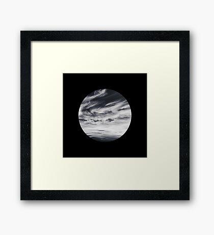 moon of sky // black Framed Print