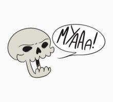MYAAAA! Skull by brownhatdesigns