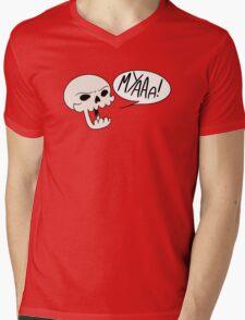 MYAAAA! Skull Mens V-Neck T-Shirt