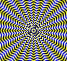 Blue and Yellow Zigzag Ripples by Objowl