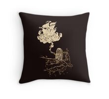 Wow It's a ship ! Throw Pillow