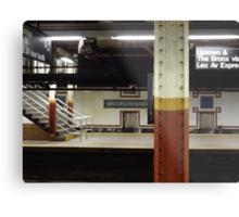 Brooklyn Bridge Subway NYC Metal Print