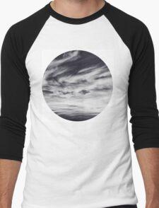 moon of sky // white Men's Baseball ¾ T-Shirt