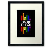 I <3 Dubstep Moar Framed Print