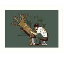 The Wood With The Dragon Craving Art Print