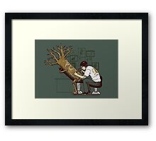 The Wood With The Dragon Craving Framed Print