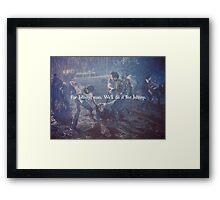 For Johnny, Man.  Framed Print