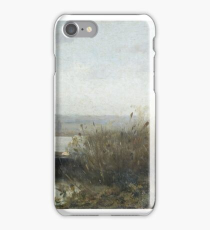 Modest Urgell, Barcelona, , Boat on the Shore of the Lake of Banyoles iPhone Case/Skin